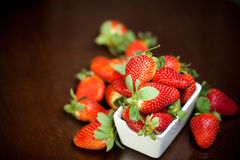 Fresh red strawberries on the table Royalty Free Stock Photo