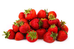 Fresh red strawberries on white background Royalty Free Stock Photo