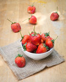 Fresh red strawberry in a bowl Royalty Free Stock Image