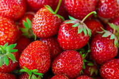Fresh red strawberry closeup, background Stock Image