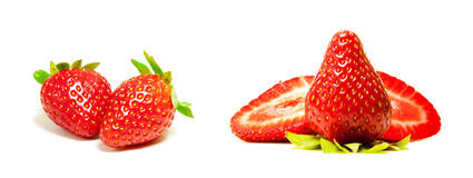 Fresh Red Strawberry Sampler Royalty Free Stock Photo