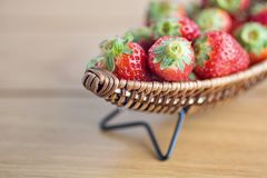 Strawberry on boat copy space Royalty Free Stock Image