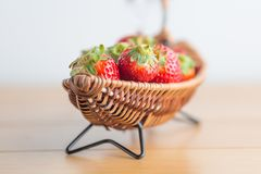 Strawberry on boat copy space Royalty Free Stock Photos
