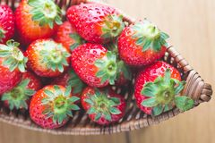 Strawberry on boat closeup Royalty Free Stock Photography