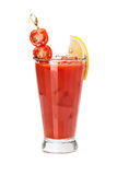 Fresh red tomato cocktail. Royalty Free Stock Photo