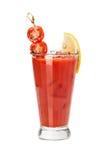 Fresh red tomato cocktail. Royalty Free Stock Photo