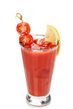 Fresh red tomato cocktail. Stock Image