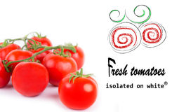 fresh red tomato isolated Stock Photos