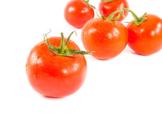 Fresh red tomato isolated on white Stock Image