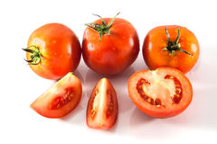 Fresh red tomato isolated Stock Image