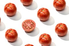 Free Fresh Red Tomato Pattern Isolated Stock Photography - 158773322