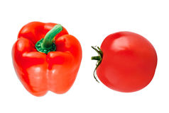 Fresh red tomatoe and peper Royalty Free Stock Image