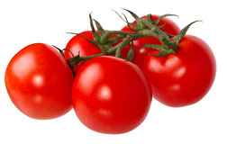 Fresh red tomatoes. Isolated on a white background Stock Photos