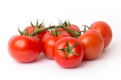 Fresh red tomatoes. Isolated on white background stock photos