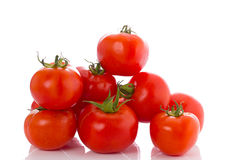 Fresh red tomatoes isolated Stock Photos