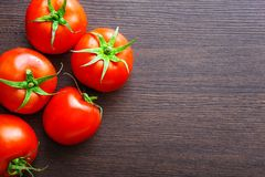 Fresh red tomatoes on table Stock Photography