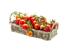 Fresh red tomatoes on white background isolated Stock Photos