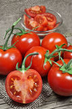 Fresh red tomatoes Royalty Free Stock Photo