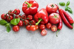 Fresh red vegetables royalty free stock photo