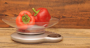 Fresh red vegetables in scales Stock Photography