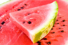 Fresh red water-melon Stock Photos