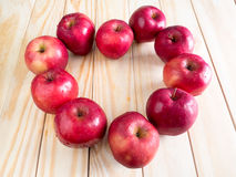 Fresh red wet apples with water drops Royalty Free Stock Photography