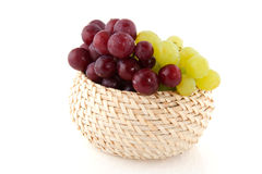 Fresh red and white grapes Stock Photography