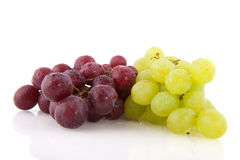 Fresh red and white grapes Stock Photo