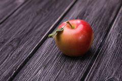 Fresh red yellow apple stock photos