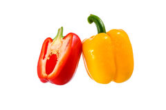 Fresh red and Yellow bell pepper Royalty Free Stock Photos
