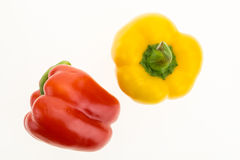 Fresh red and yellow bell peppers Royalty Free Stock Photography