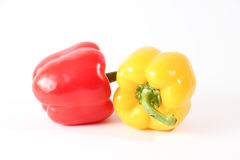 Fresh red and Yellow capsicum Stock Photography