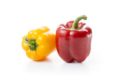 Fresh Red and Yellow Paprika Fruits Stock Photo