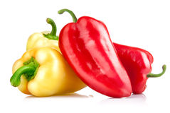 Fresh red and yellow pepper Royalty Free Stock Image