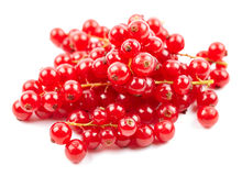 Fresh redcurrant berries on white Royalty Free Stock Images