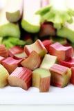 Fresh rhubarb Stock Photo
