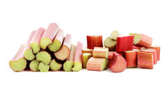 Fresh rhubarb Stock Photo