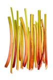 Fresh rhubarb on white background Royalty Free Stock Photos
