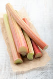 Fresh rhubarb Stock Image
