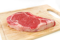 Fresh rib eye steak Stock Image