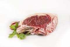 fresh rib eye steak isolated on white background royalty free stock image