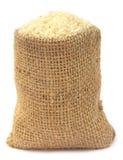 Fresh rice in sack bag Stock Photography