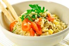 Fresh rice salad Stock Photos