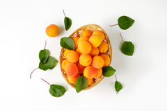 Fresh ripe apricots Royalty Free Stock Images