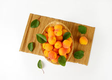 Fresh ripe apricots Stock Photos