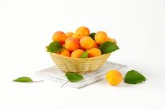Fresh ripe apricots Royalty Free Stock Photo