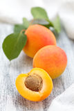 Fresh ripe apricots . Royalty Free Stock Photography