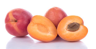 Fresh ripe apricots. Isolated on white Stock Photography