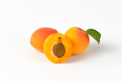 Fresh ripe apricots Royalty Free Stock Photos