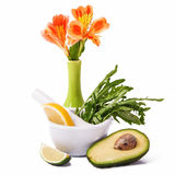 Fresh ripe avocado Royalty Free Stock Image